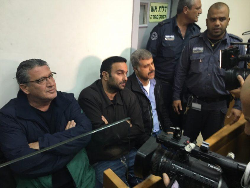 יואל דוידי, עופר שמעוני ומשה פונטה בדיון בהארכת מעצר
