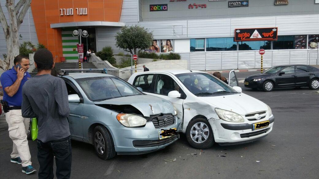 תאונה בצומת חוצות. צילום UAP