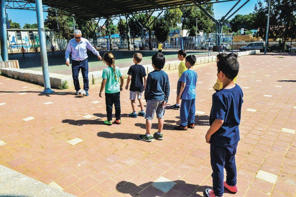 אייל חסאן, בית ספר בית יחזקאל אשקלון. צילום: אורי קריספין