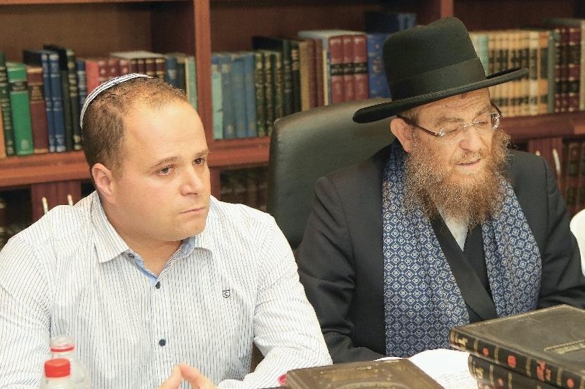 הרב יצחק ברדא, תומר גלאם. צילום: ניר עזריאל