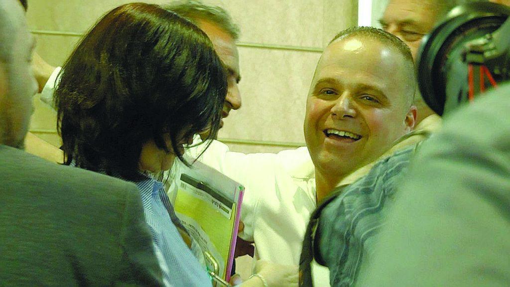 תומר גלאם ברגע ההכרזה. צילום: עיריית אשקלון