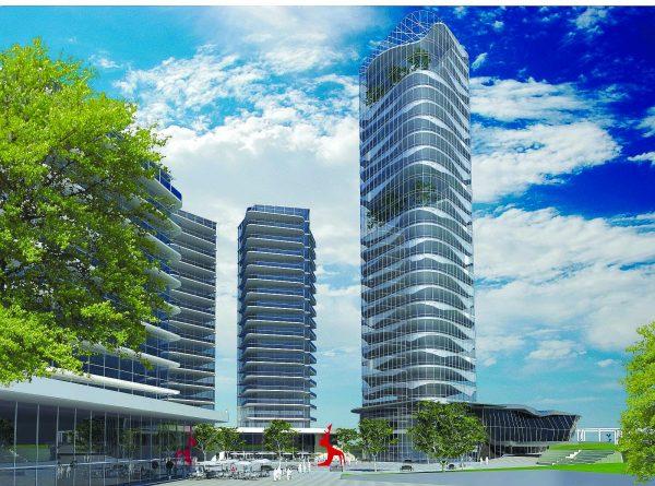 הדמייה של בניין העירייה החדש באשקלון