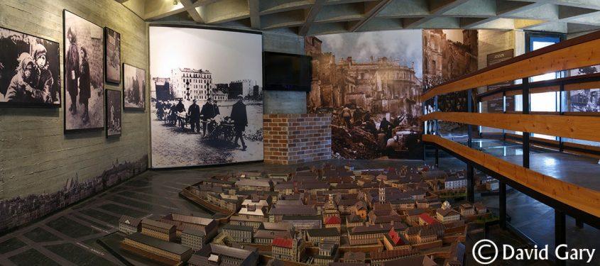 דגם גטו ורשה במוזיאון יד מרדכי. צילום: תיירות יד מרדכי