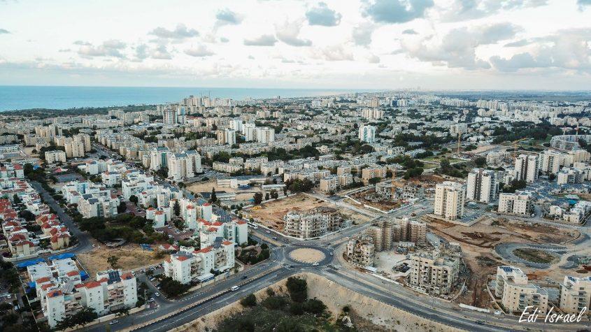 אשקלון. מבט מלמעלה. צילום אדי ישראל