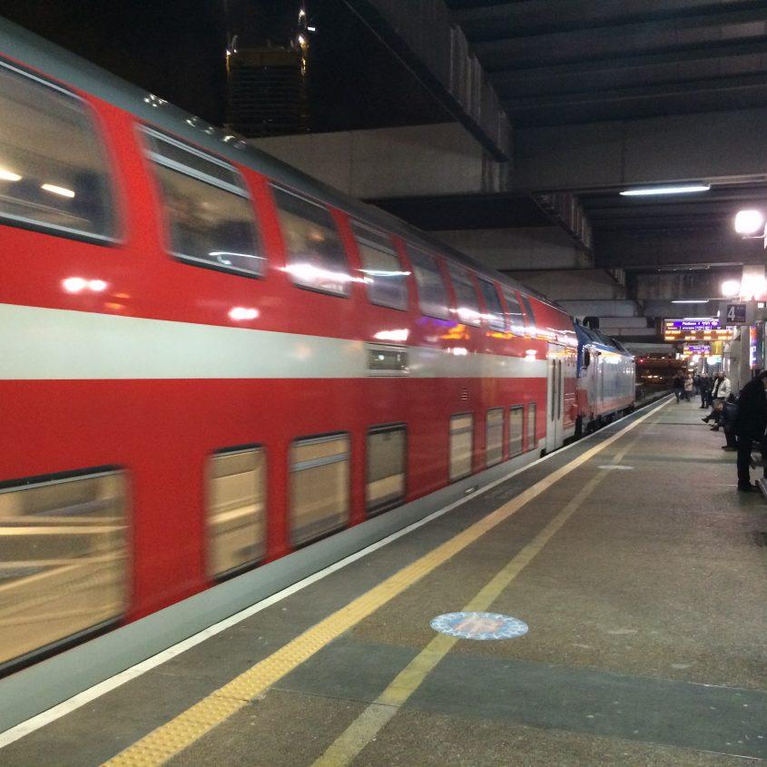 רכבת ישראל בתחנת הרכבת בתל אביב. צילום: דוברות רכבת ישראל