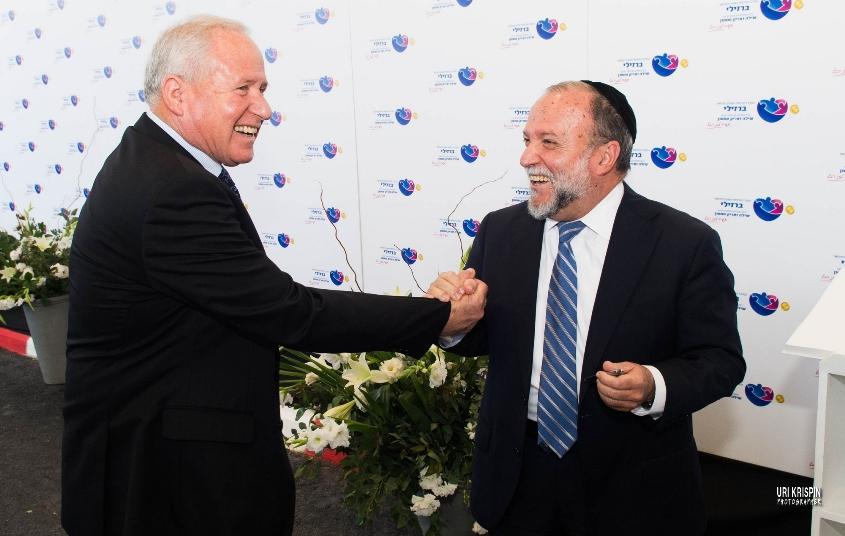 יצחק כהן ואבי דיכטר. צילום: אורי קריספין
