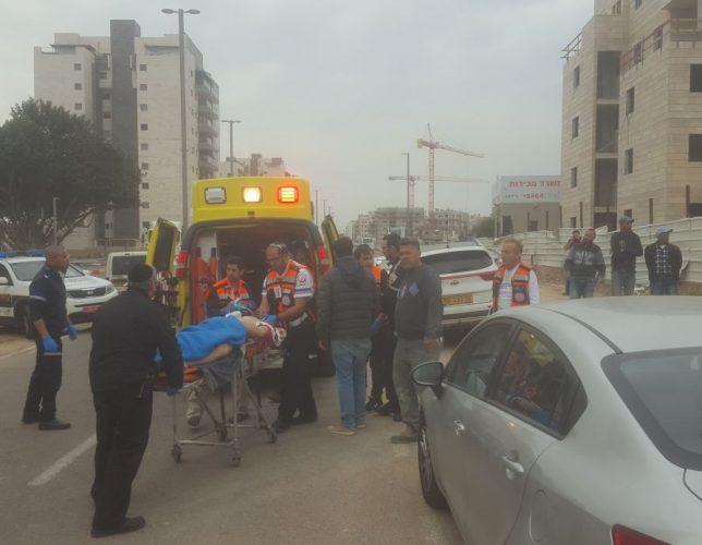 הפצוע מפונה בטיפול נמרץ לברזילי. צילום: אלירם משה