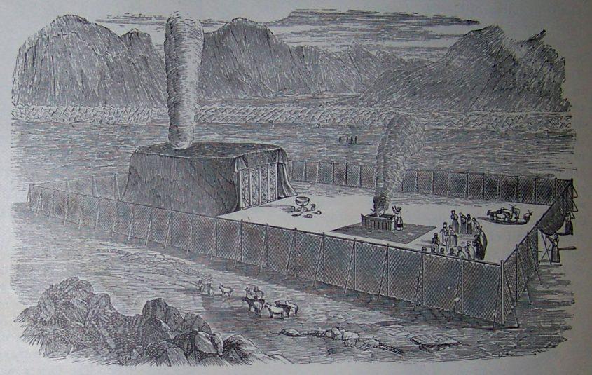 """המשכן, איור מתוך תנ""""ך הולמן 1898. מתוך ויקיפדיה"""