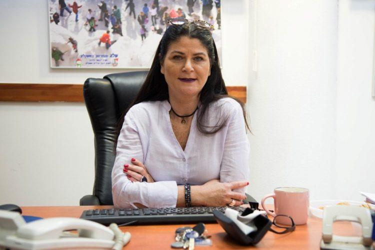 רונית מצליח במשרדה. צילום: אורי קריספין