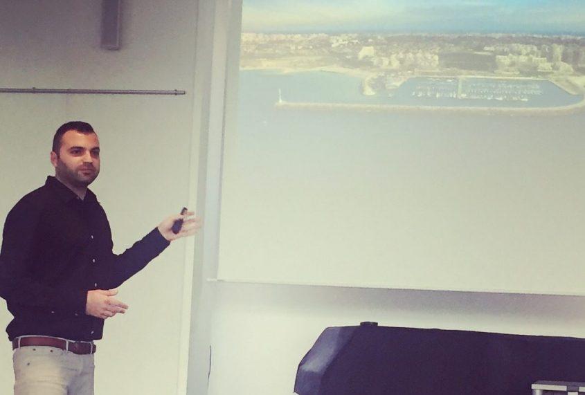 חדריאן מדבר על אשקלון בסמינר מנהיגות בגרמניה
