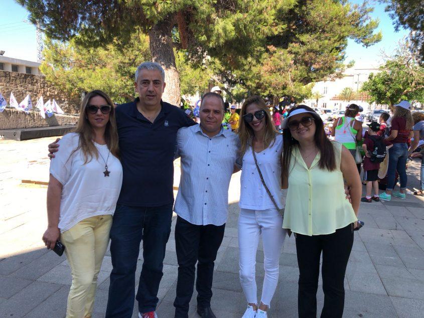 גלאם עם אייל חסאן, המורה רביב וחברת המועצה אלטיט