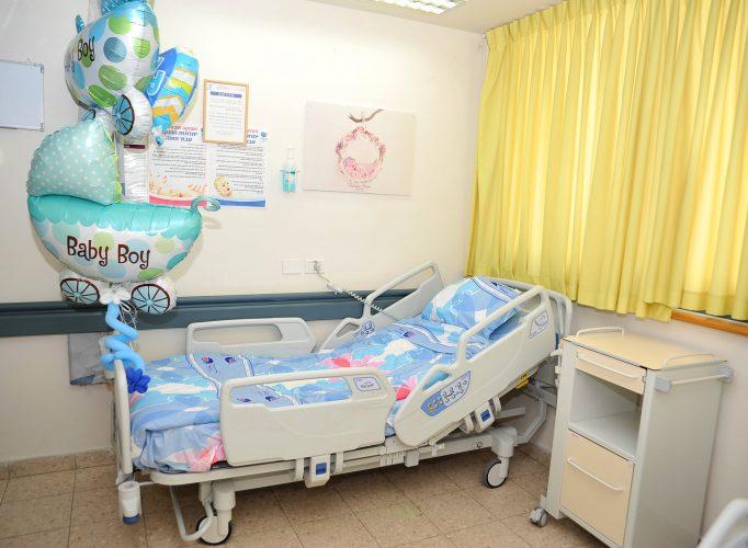 חדר במחלקת יולדות בברזילי. צילום: דוד אביעוז, צילום רפואי ברזילי
