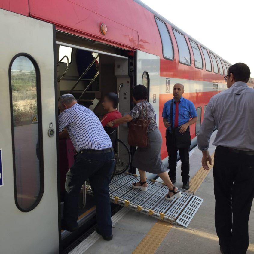 רכבת ישראל נכה נכים. צילום: דוברות רכבת ישראל