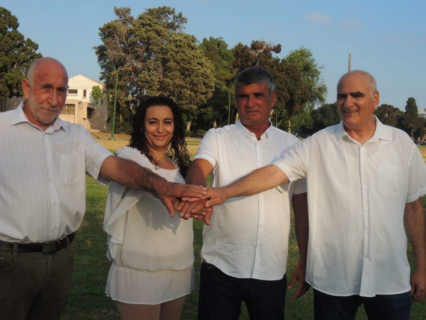 ארבעת ההורים. עפר סורין, יורם גניש, מלי ברלינסקי ויוסי בן יעקב