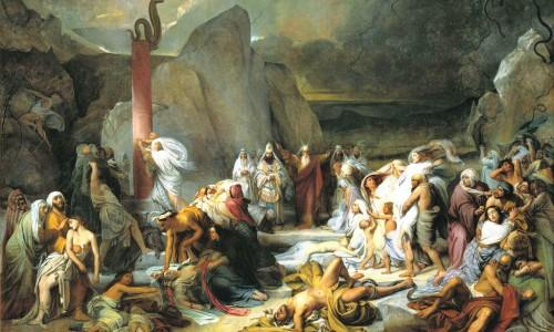 בני ישראל נלחמים במדבר איור פיודור ברוני [Public domain], באמצעות ויקיפדיה