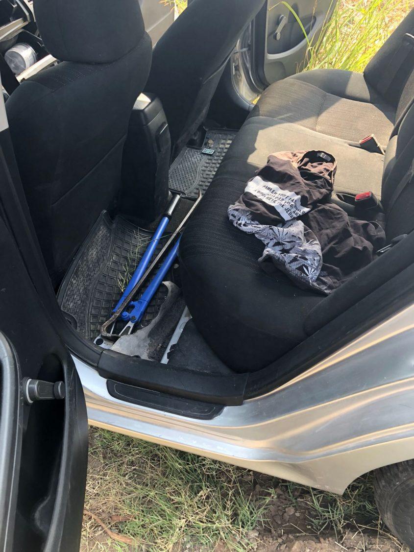 הרכב של החשודים במעשים. צילום: דוברות המשטרה