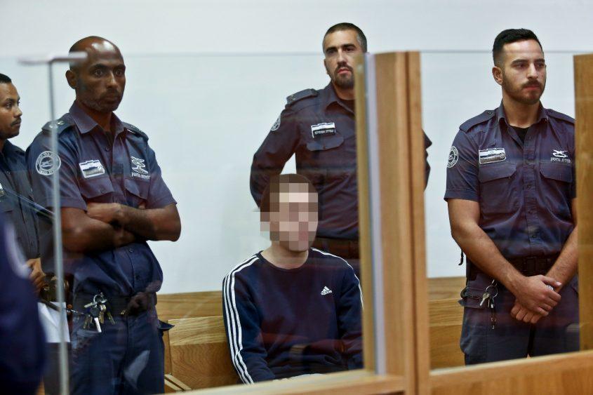 ההאקר האשקלוני בבית המשפט. צילום: מגד גוזני