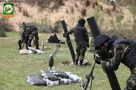 מחבלי החמאס עם מרגמות. צילום: מתוך סרטון תעמולה של חמאס