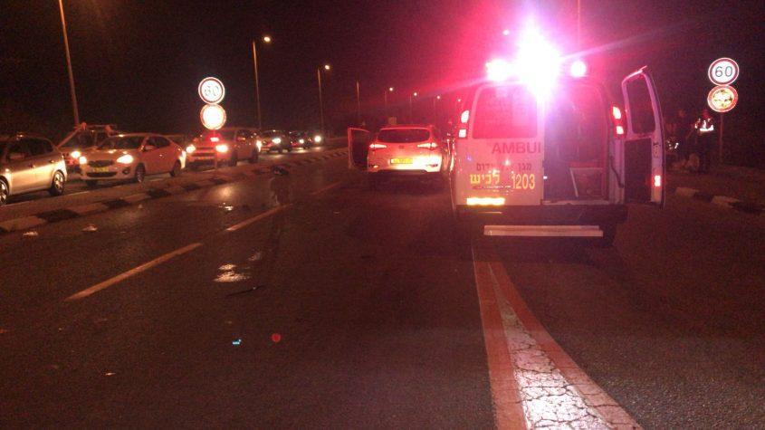 כביש 4 צומת בת הדר תאונת דרכים אמבולנס