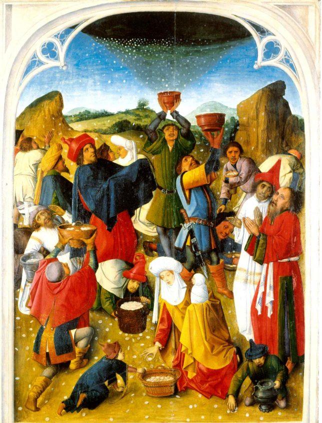 ליקוט המן, ציור משנות ה-60 של המאה ה-15