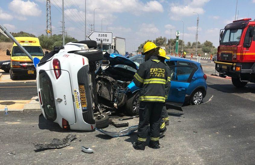 התאונה בכביש 3. צילום: ירון זמיר