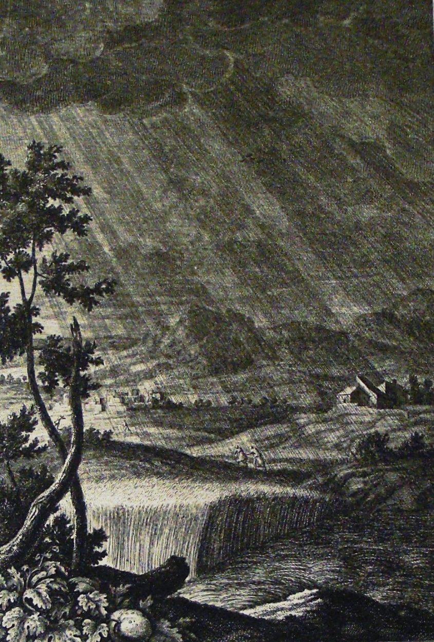 """איור לפסוקי הפתיחה של שירת האזינו מתוך אוסף פיליפ מדהרסט של איורים תנ""""כיים שברשותו של רב. פיליפ דה-ורה בבית הספר סנט ג'ורג', קידרמינסטר, אנגליה"""