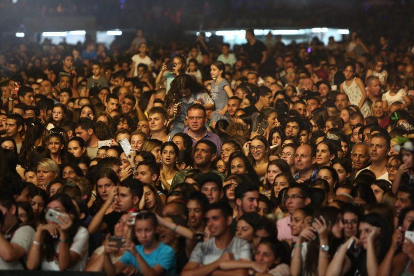 קהל הופעה אירוע מופע פסטיבל דרום עולה 2018. צילום: אדי ישראל