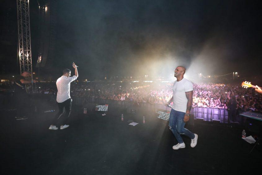 אייל גולן משה פרץ הופעה דרום עולה 2018. צילום: סיוון מטודי