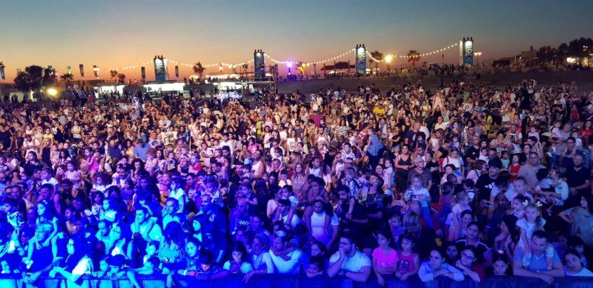 קהל הופעה מופע אירועים דרום עולה 2018. צילום: סיוון מטודי