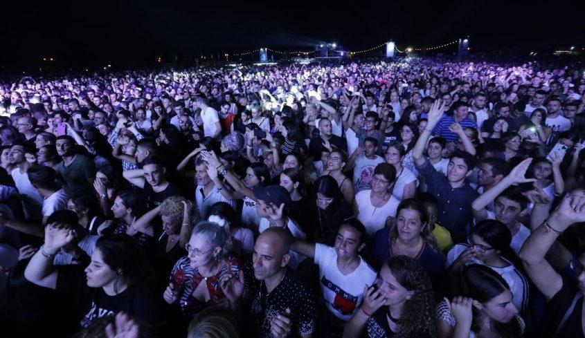 קהל הופעה פסטיבל דרום עולה 2018. צילום: אדי ישראל