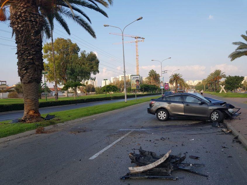 תאונת דרכים. שד' בן גוריון תאונות