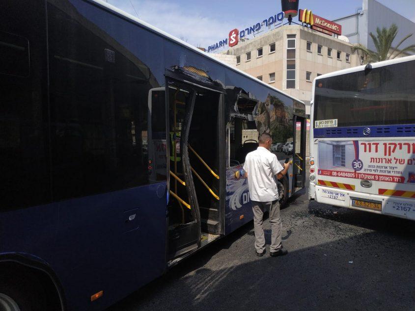אוטובוס תאונת דרכים תחנה מרכזית