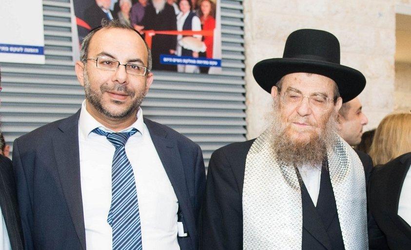 הרב יצחק ברדא והרב יעקב אביטן. צילום: אורי קריספין