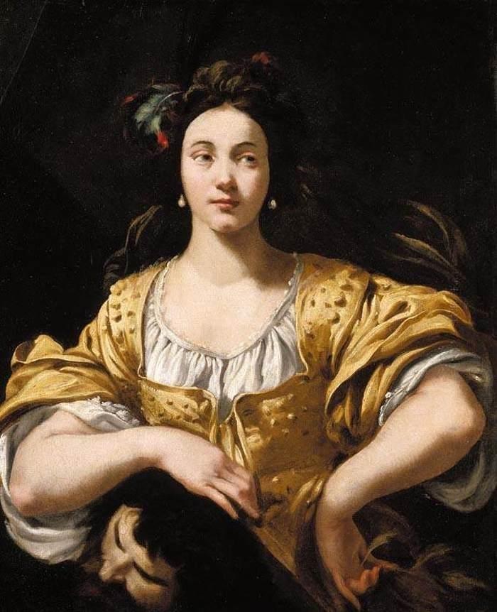 יהודית עם הראש הכרות של הוֹלוֹפֶרְנֶס (ציור של שארל מלין - 1630)