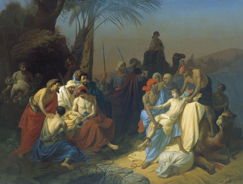 מכירת יוסף, ציור של קונסטנטין פלוויטסקי