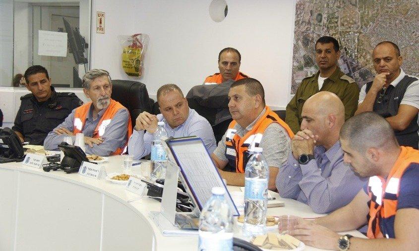 הערכת מצב בעירייה. צילום: דוברות עיריית אשקלון