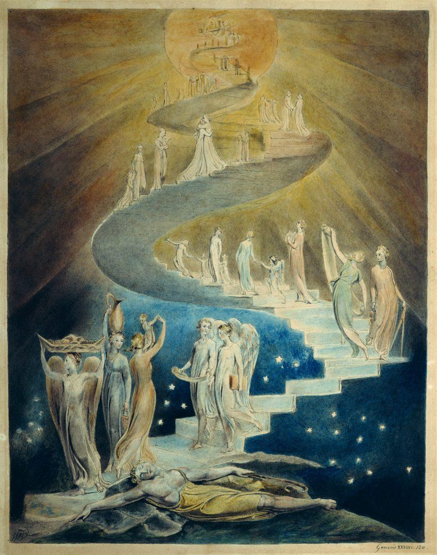 סולם יעקב, ציור מאת ויליאם בלייק מוצג מוזיאון הבריטי, לונדון, באדיבות ויקיפדיה