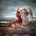 רגע המאבק בין יעקב והמלאך: ציור של גוסטב דורה