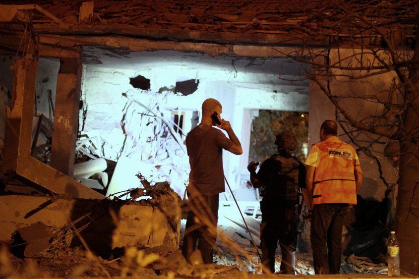 הבית שנפגע מרקטה באפרידר. צילום: אילן אסייג