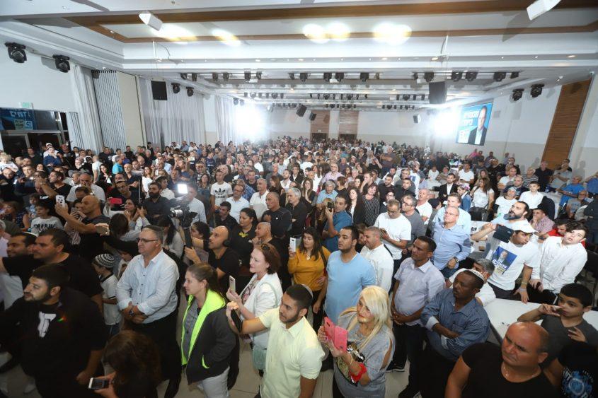 הקהל בכנס הניצחון של גלאם. צילום: אלדד עובדיה