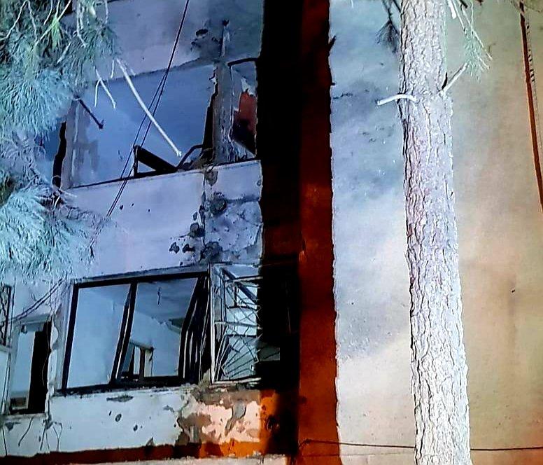 הבניין שנפגע באשקלון. צילום: דוברות איחוד הצלה