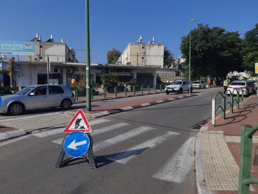 עבודות ברחוב יהודה הלוי. צילום: אלירם משה