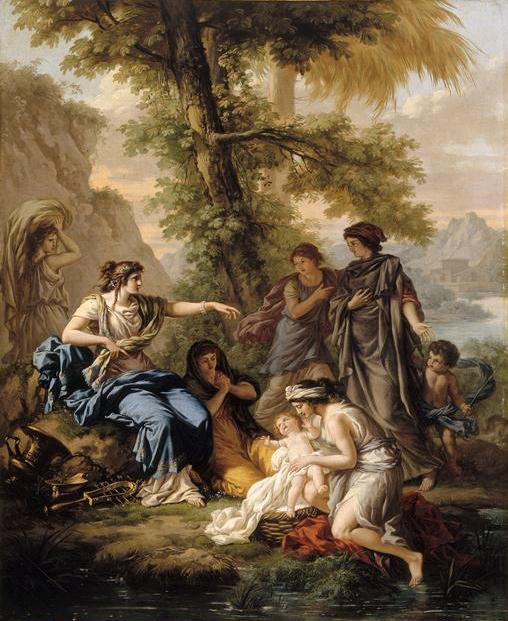 בת פרעה מצילה את משה מהיאור (ז'אן-ז'ק לגרנה, המאה ה-18. מתוך ויקיפדיה