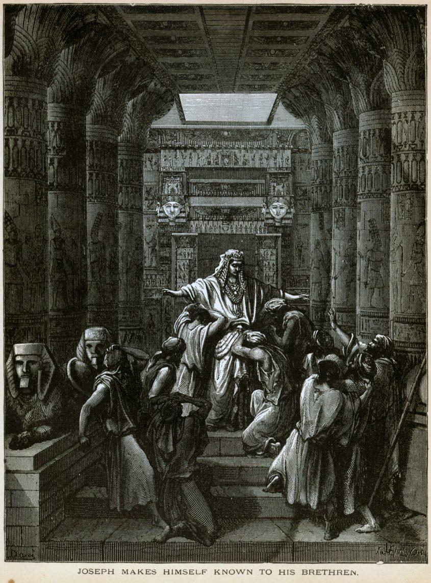 יוסף חושף את זהותו לאחיו, ציור גוסטב דורה. באדיבות ויקיפדיה