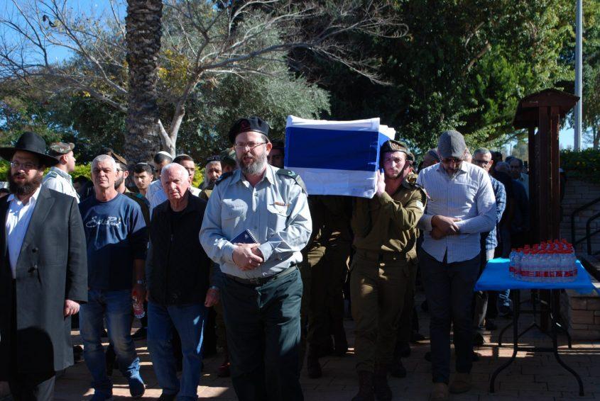 לווייתו של יובל מוריוסף בחלקה הצבאית באשקלון. צילום: אלירם משה
