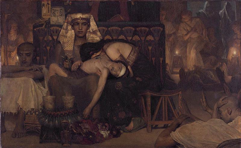 מכת בכורות, 1872. מאת: לורנס אלמה-טדמה. מותו של פרעה הבכור
