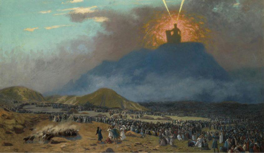 משה על הר סיני. ציור מאת ז'אן-לאון ז'רום, סוף המאה ה-19