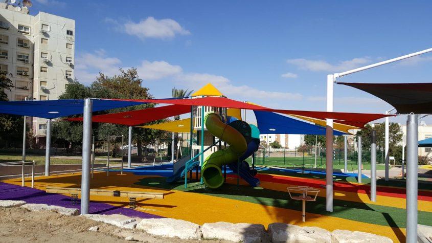גן משחקים שעשוגים. צילום: המשרד לפיתוח הפריפריה, הנגב והגליל