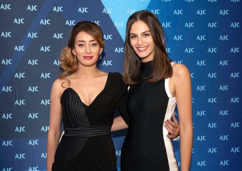 גנדלסמן עם מיס עיראק שרה עידאן בירושלים. באדיבות AJC