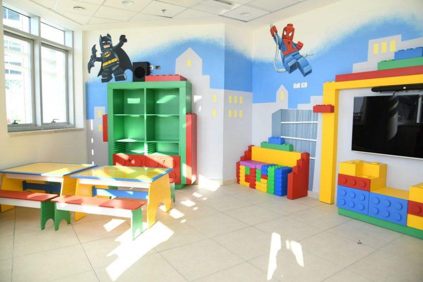 המשחקיה במחלקת הילדים החדשה בברזילי. צילום: מורן ניסים, צילום רפואי ברזילי